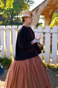 Our tour guide for Canada Village- all dressed as she would have if she lived here in the early 1800's.