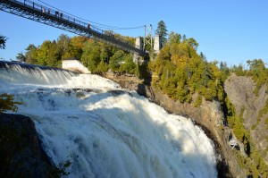 The top of Montmorency Falls.