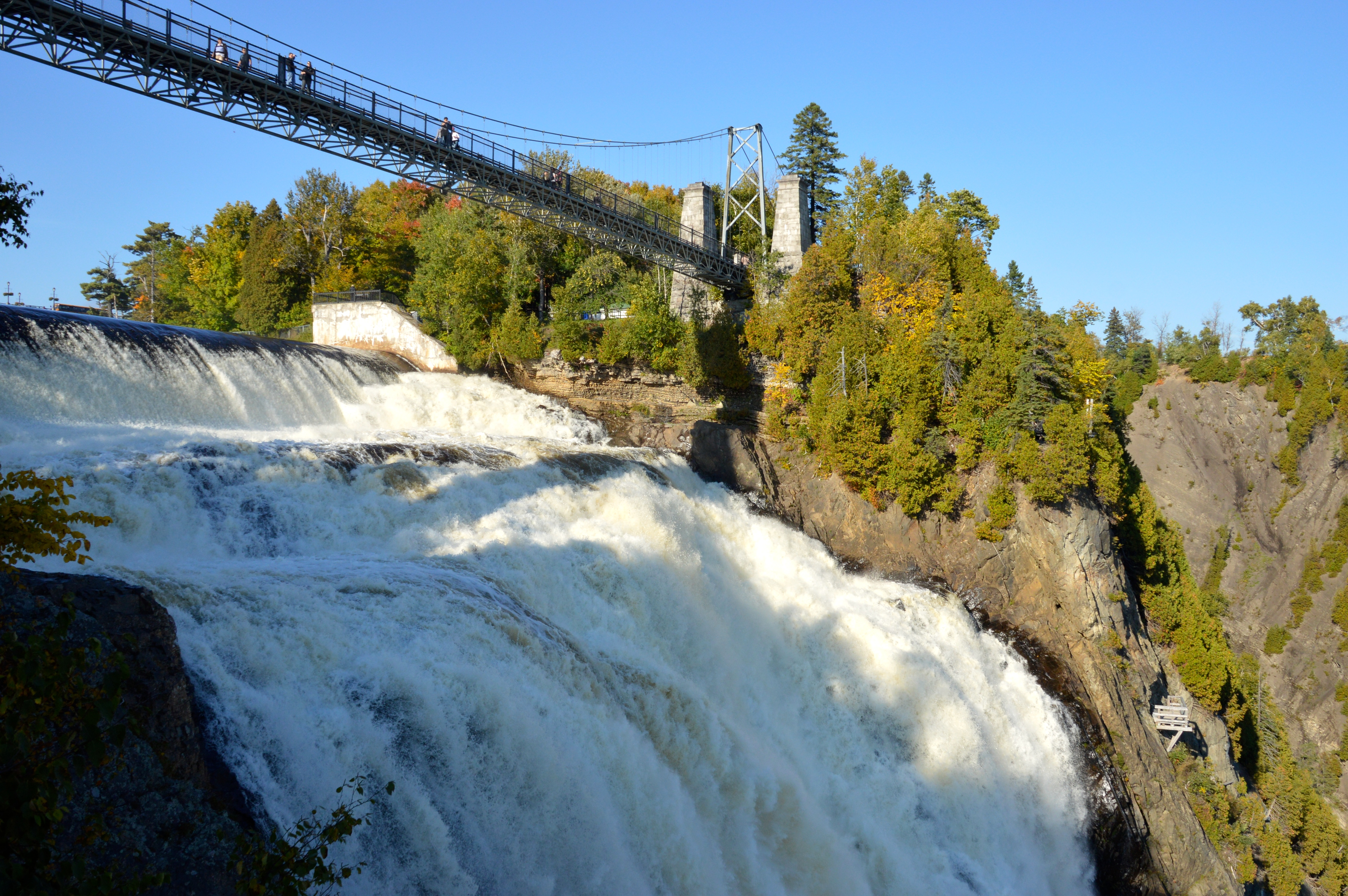 The Top Of Montmorency Falls