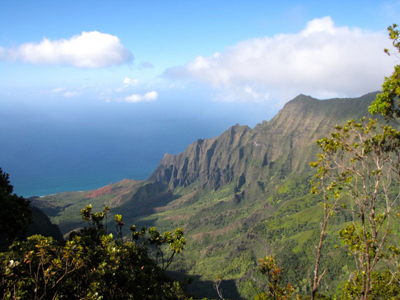 Discover Hawaii Kauii Napoli coast view from Waimea Canyon with Kathy Beckerley of Beckerley Travel